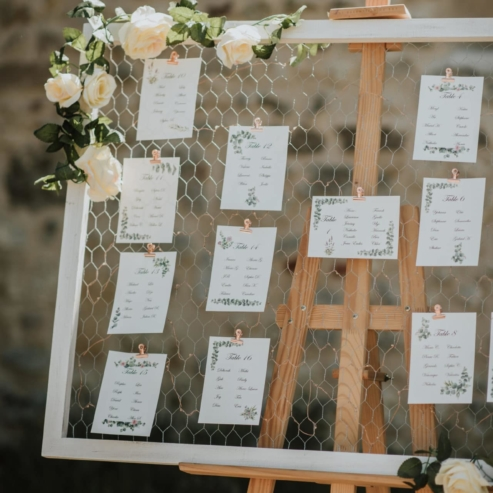 Plans de tables mariage luxe-idées mariage