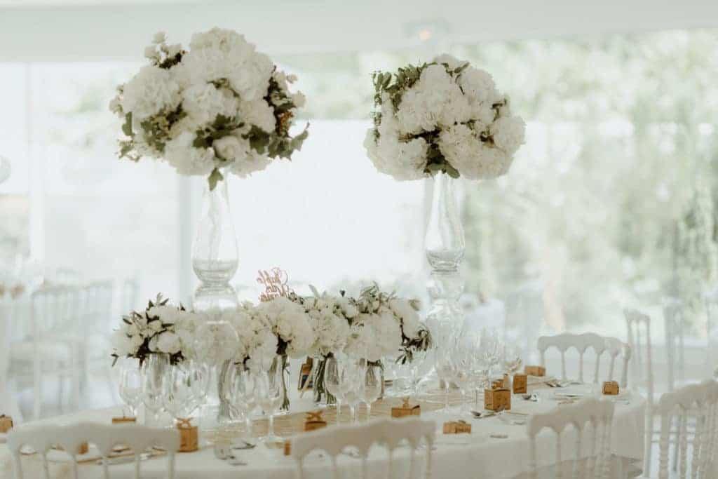 White Wedding et centres de tables