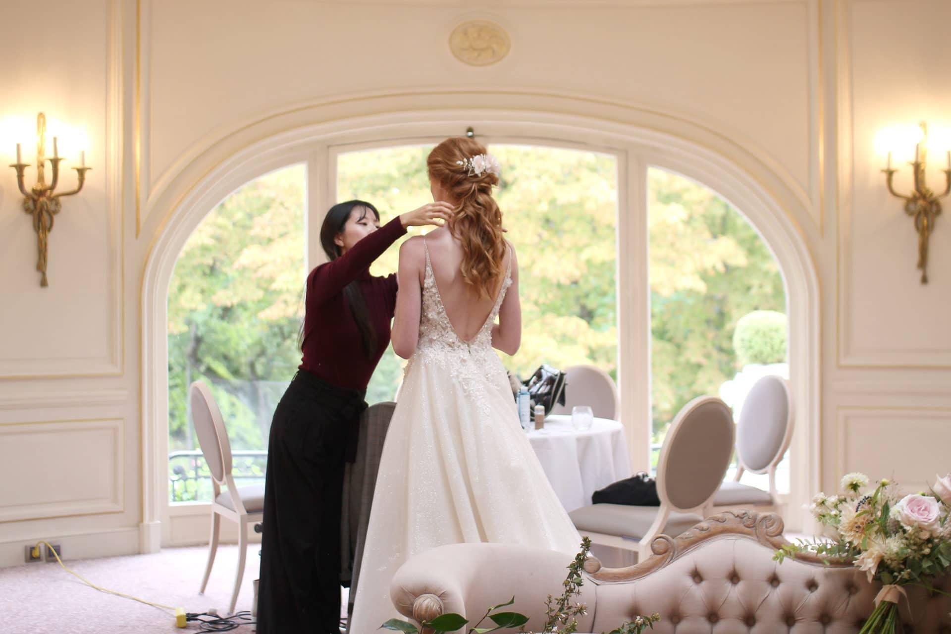 La mariée du jour a pu revêtir sa robe féérique