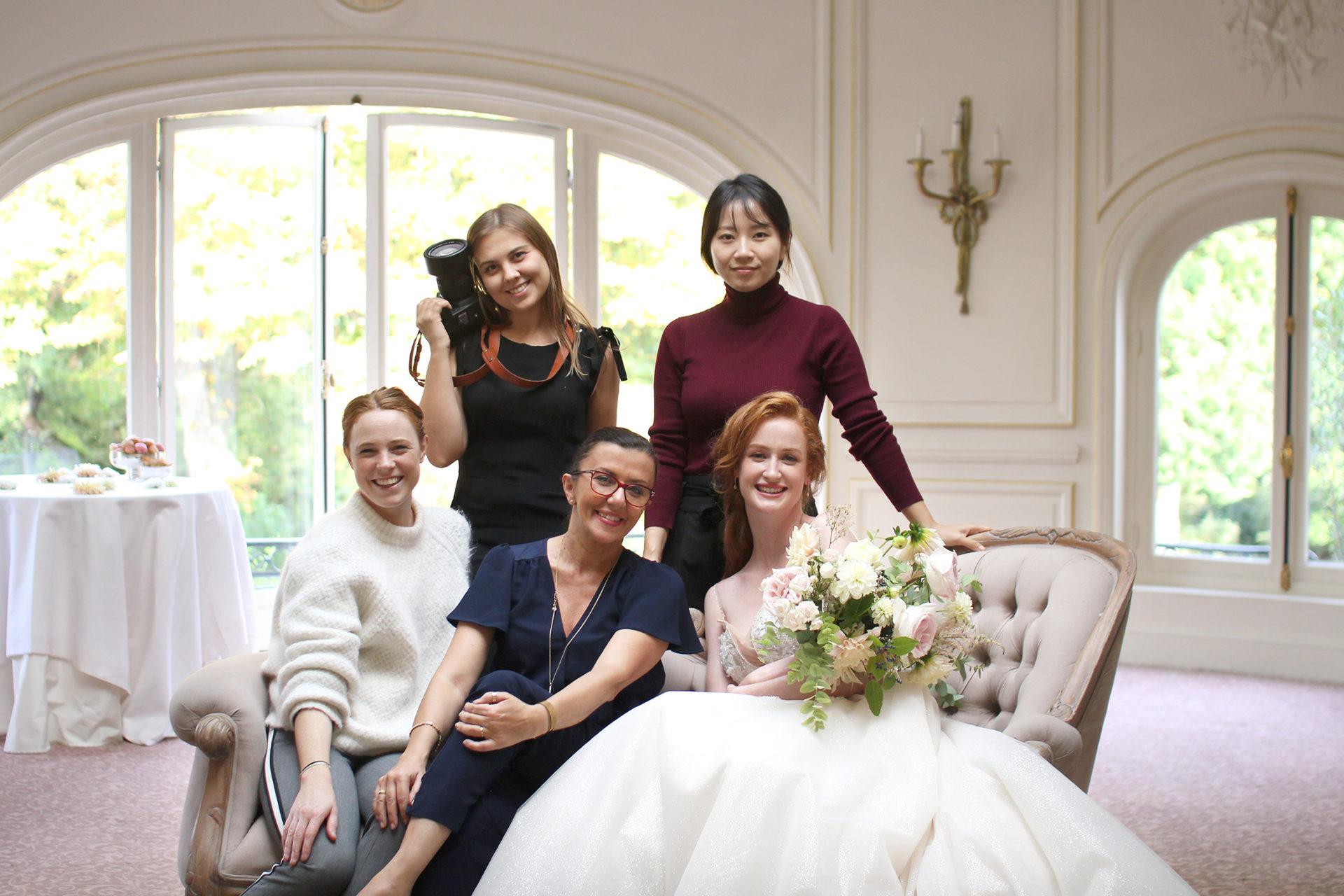 Une partie de la team du jour avec Stefania et Florestine de l'agence Atout Coeur Wedding