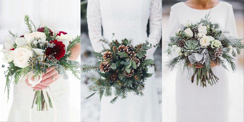 bouquets mariée noel hiver