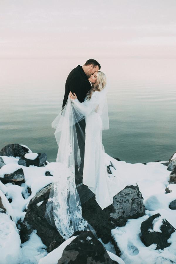 magie de l'hiver pour un mariage hivernale