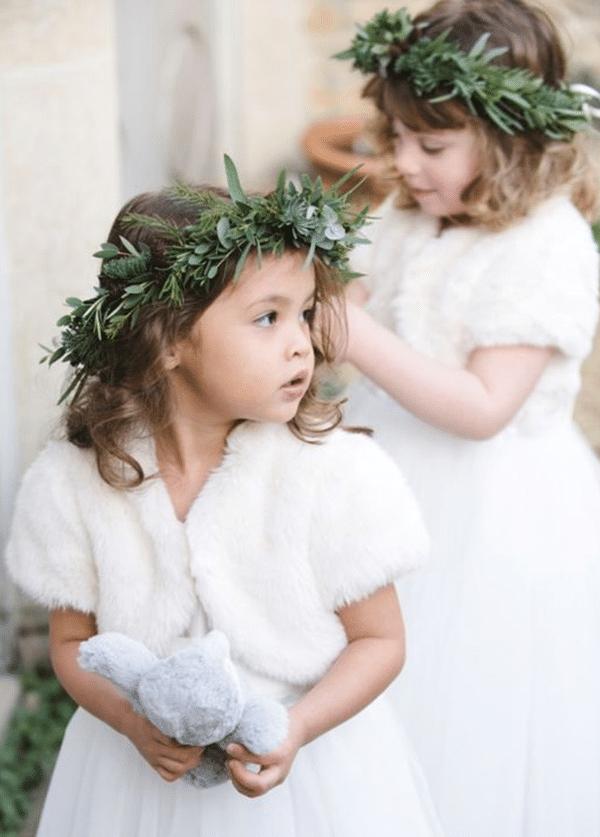 couronnes demoiselles d'honneur en hiver