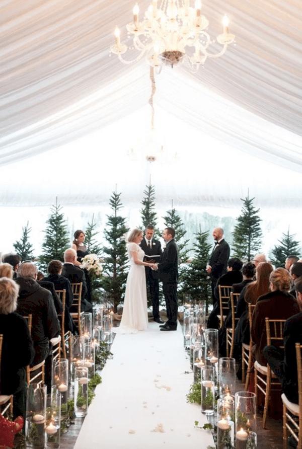 Inspiration hivernale pour un mariage au cœur de l'hiver