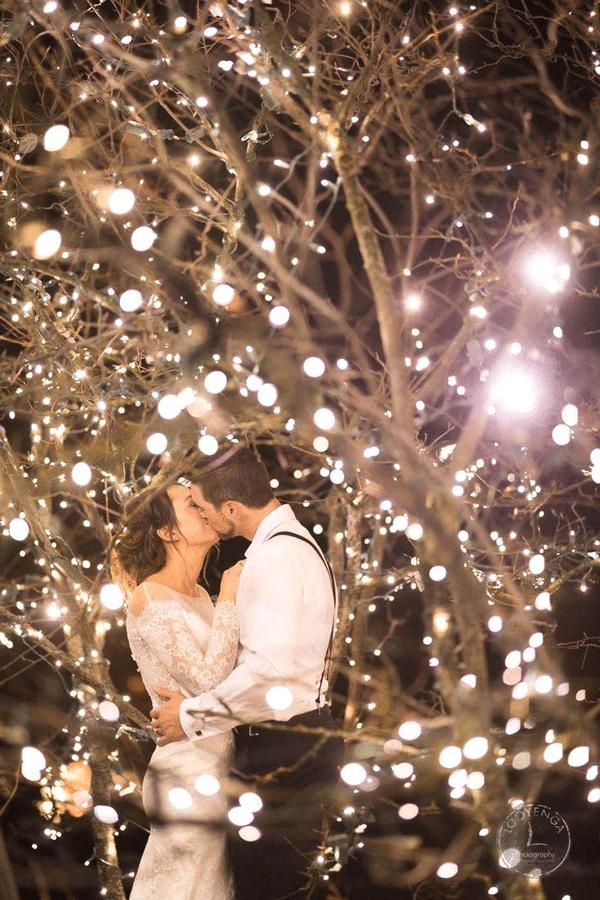 lumières mariage hiver