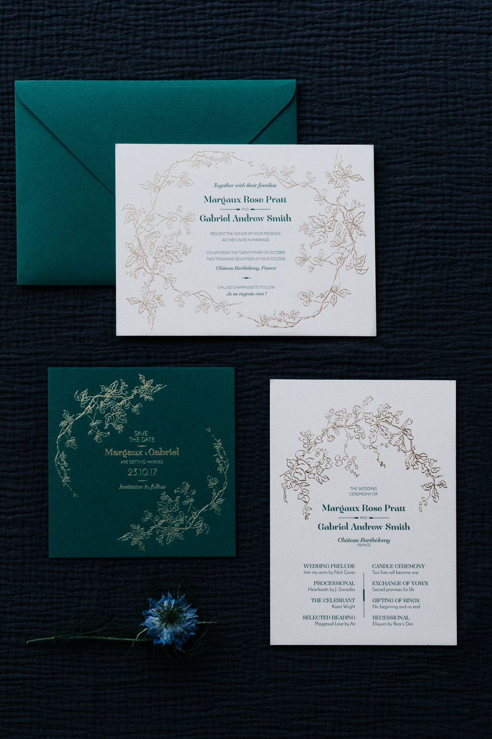 papeterie luxe tendance mariage