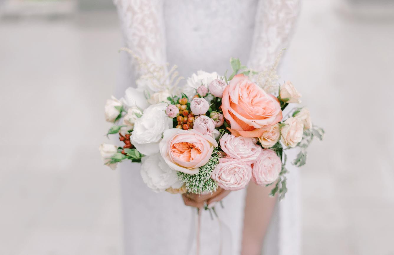inspiration de couleurs pour le bouquet de la mariée