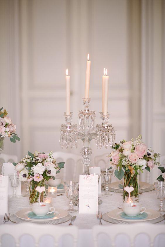 décoration de mariage élégant dans un château
