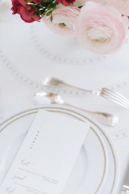 décoration de table pour un mariage à paris
