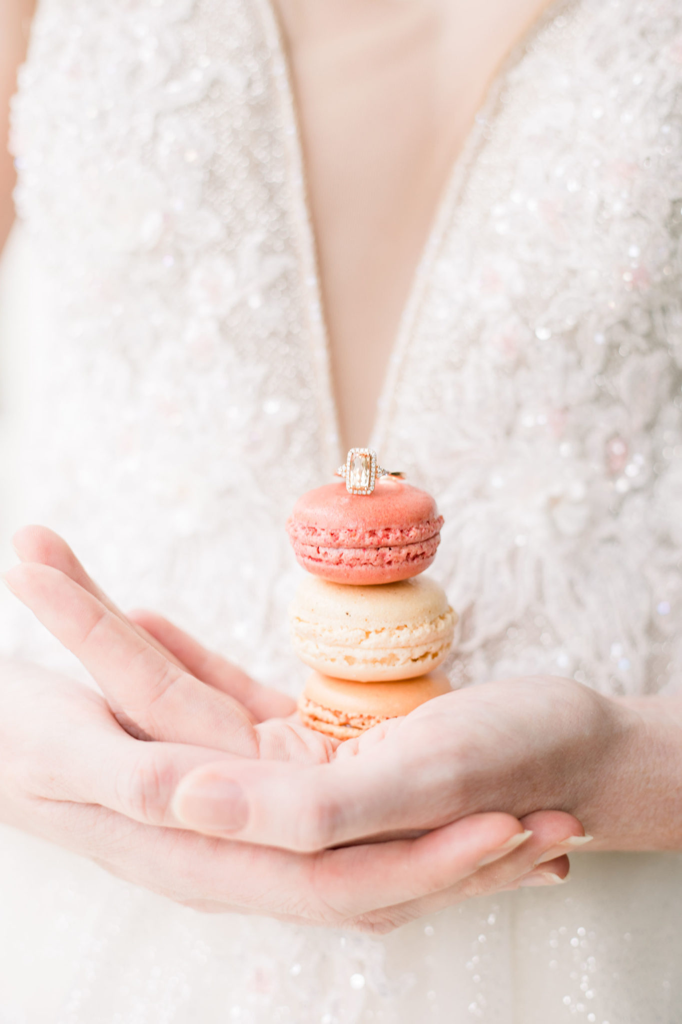 french macarons wedding day