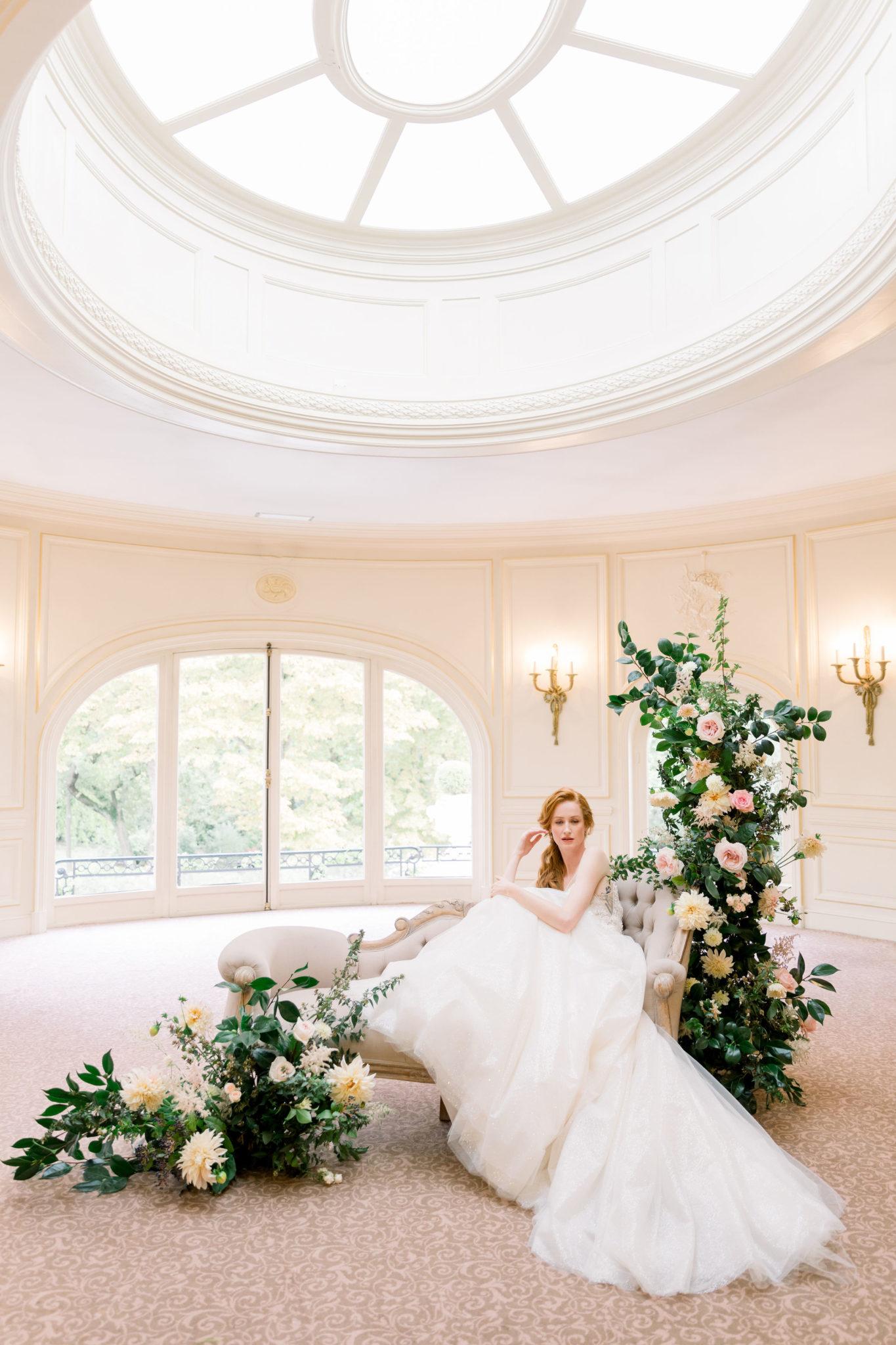 Salon Lenotre coupole, Inspiration mariage luxueux esprit Marie Antoinette