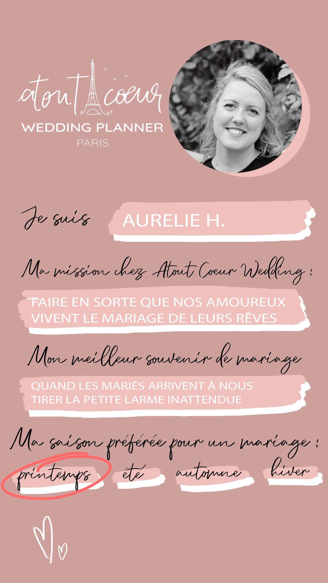 presentation equipe wedding planner Aurelie