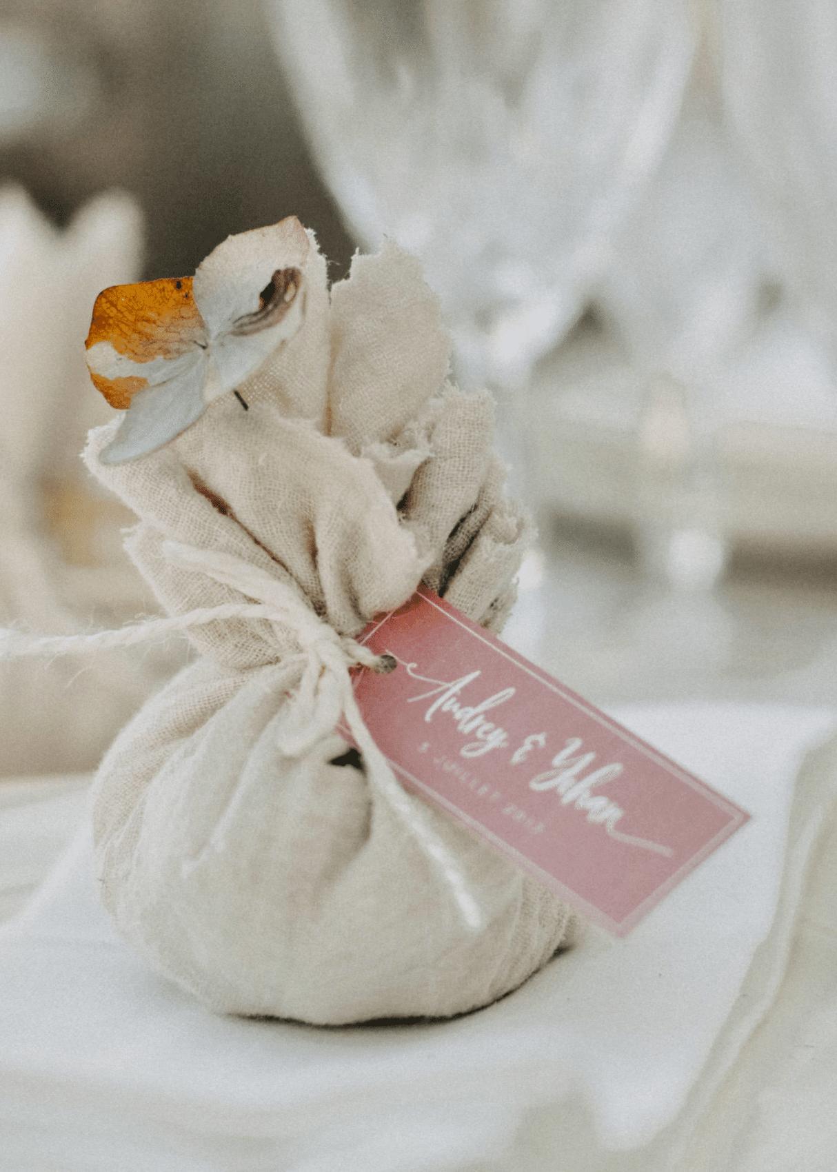 dragées cadeaux invités mariage éco-responsable