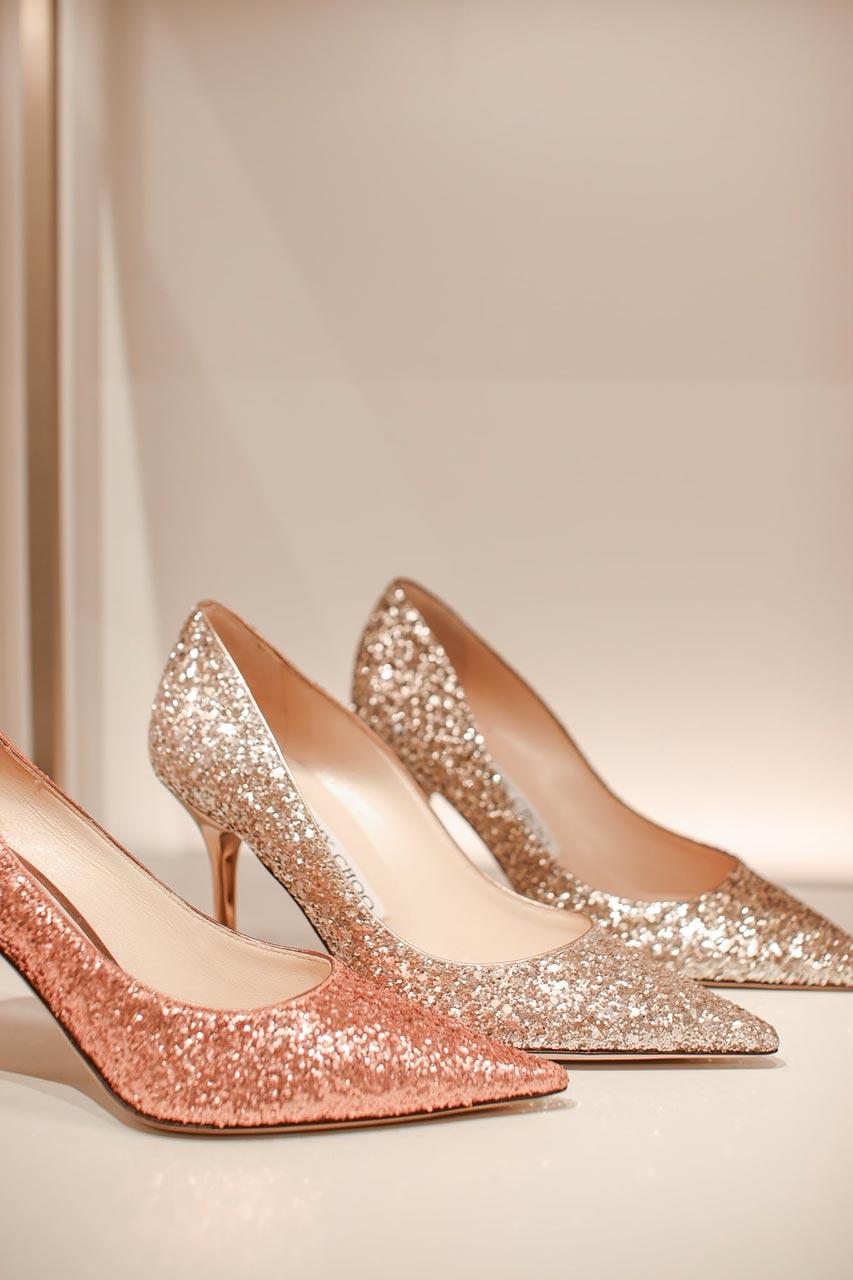 chaussures mariées paillettes