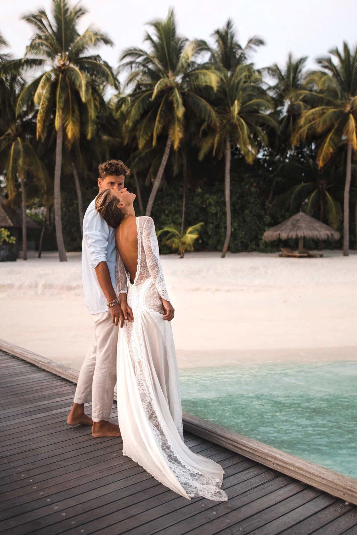 mariage en été bord de mer haut de gamme
