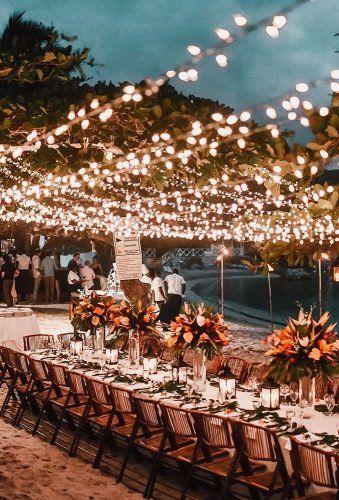 lumières extérieures mariage en été