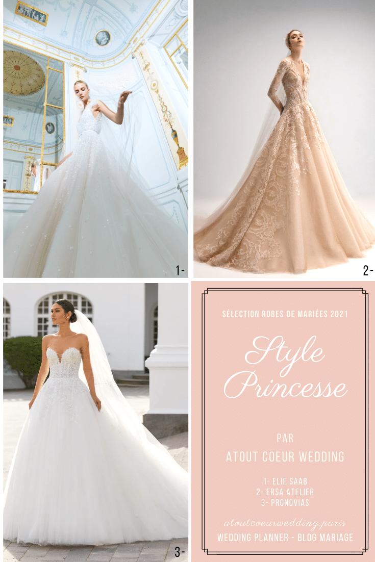 robes de mariées style princesse sélection 2021