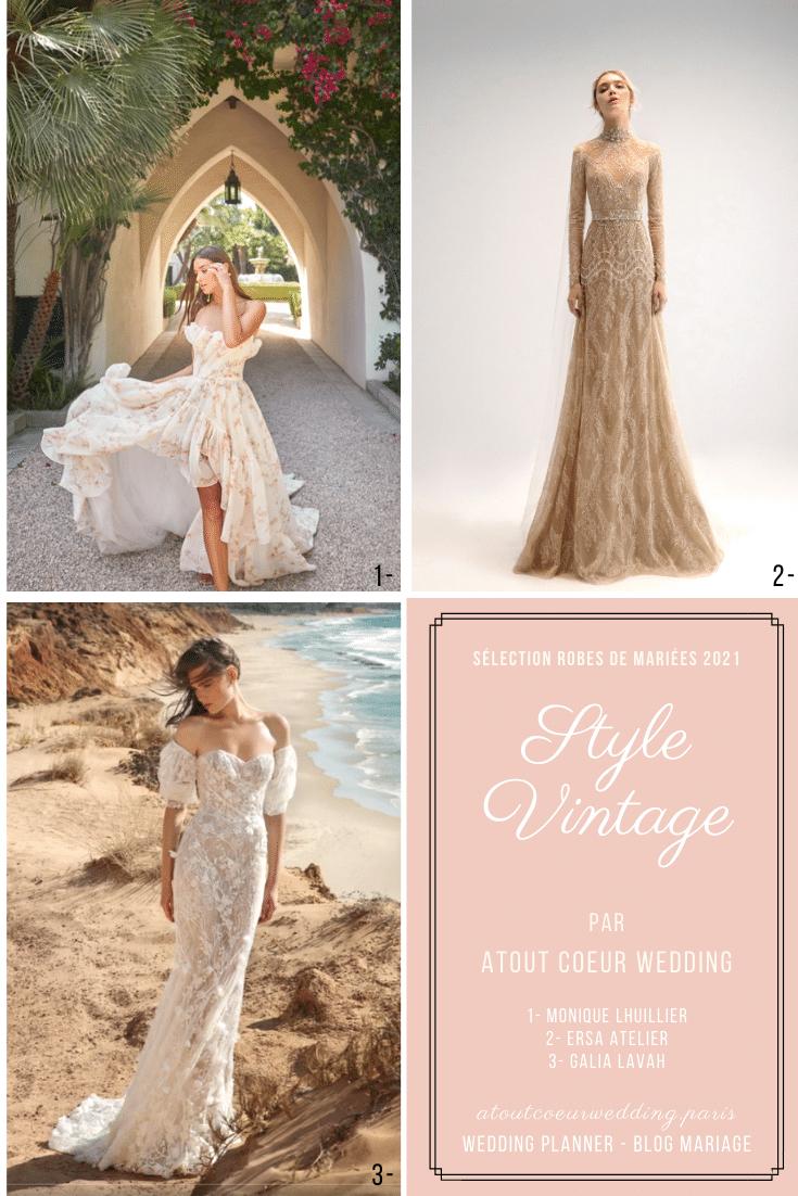 Style Vintage sélection robes de mariées blog mariage
