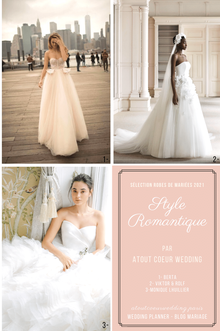 Romantic wedding dress selection
