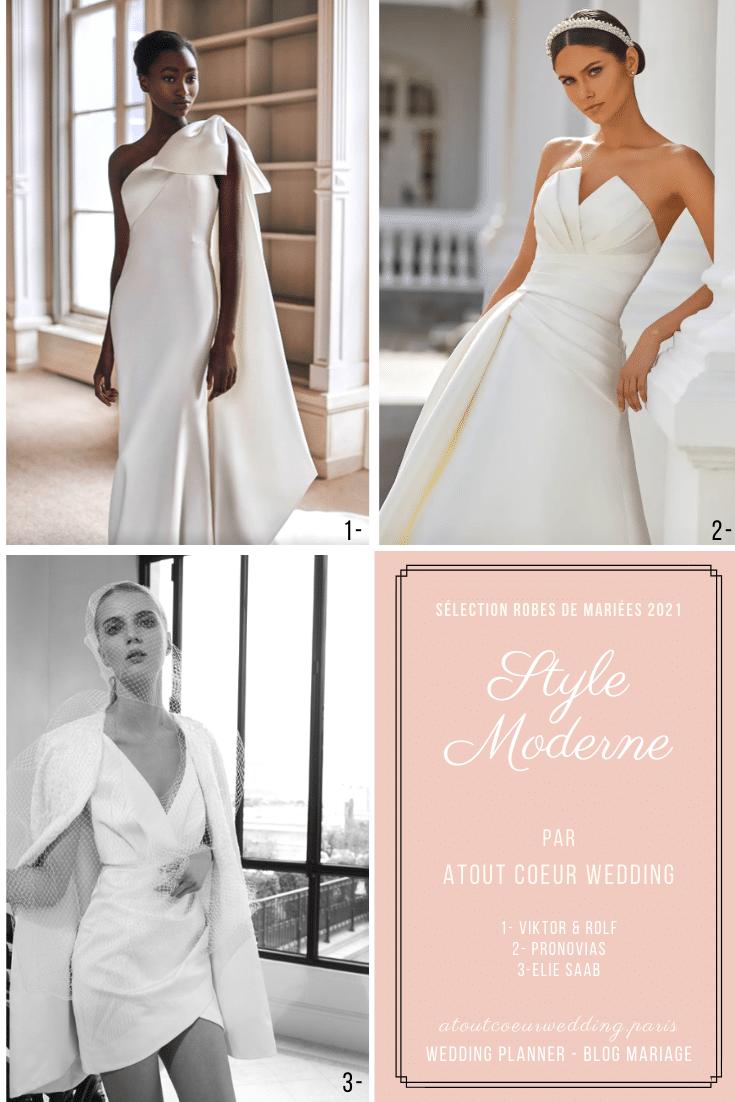 Modern bride wedding dress by atout coeur wedding