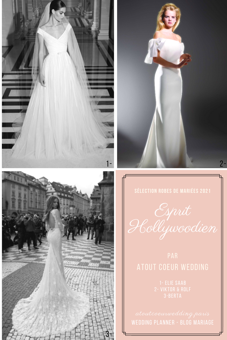 robes de mariées style cinéma Hollywood