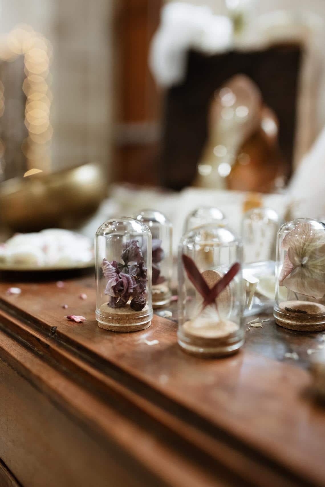 fleurs séchées Idées cadeaux pour les invités