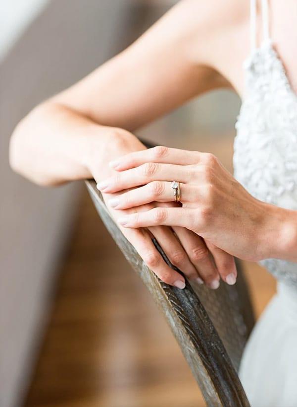 bague de fiançailles photo mariage