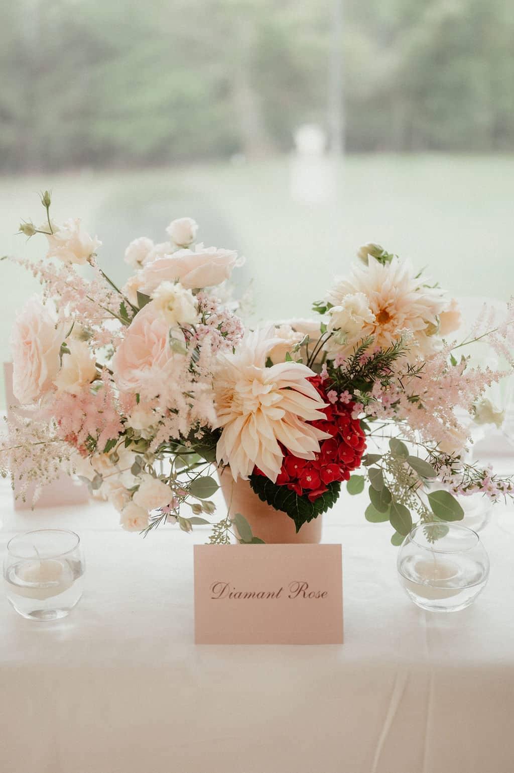 nom de table mariage diamant
