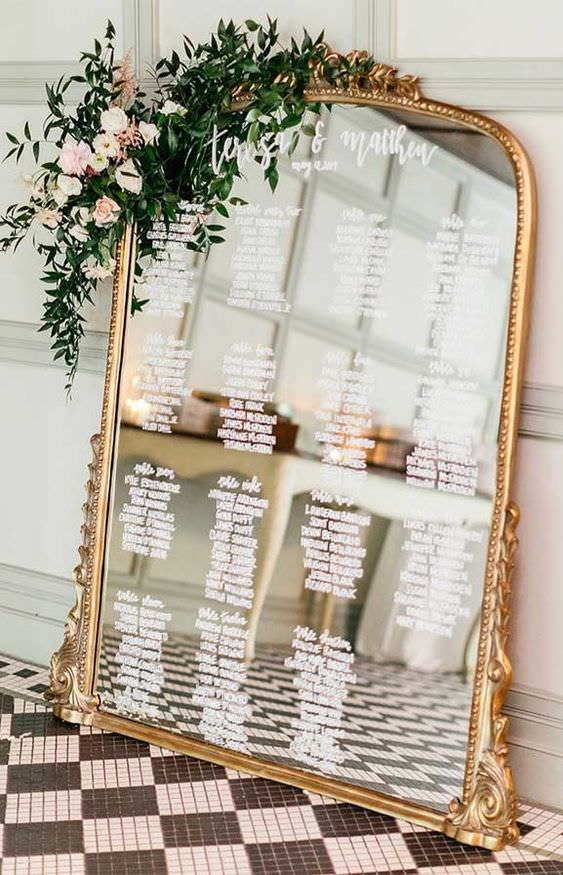 plan mariage miroir