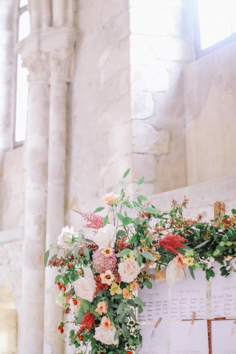 zoom fleurs déco mariage